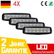 4X 18W Led Arbeitsscheinwerfer Offroad Scheinwerfer Leuchten SUV 12V 24V IP67 DE