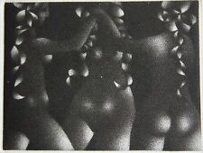 AVATI. Manière noire originale carte de voeux 1968, Sagot-Le Garrec, Paris, Dime