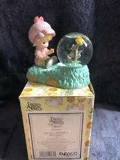Enesco Precious Moments  Figurine  - Girl with Butterfly Waterball (1998)