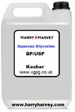 1 Litre Aqueous Vegetable Glycerine AG Vegetable Glycerol Glycerin Aqua 1L Vape