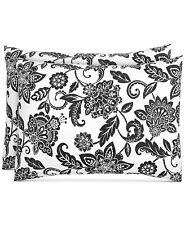 Charter Club King Pillow Sham Damask Designs Cotton Black Floral E96265