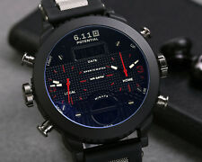 Big Face Sports Digital Watch Men Waterproof Military Multifunction LED Date Red