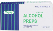Rugby ALCOHOL PREP PADS STERILE 100 ct