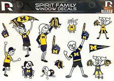 University of Michigan (U of M) Wolverines Spirit Family Window Decals