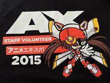 Original Anime Expo 2015 Anime Character STAFF VOLUNTEER Adult RARE T-shirt SZ M