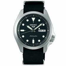 Seiko 5 Sports Automatic Black Dial Nylon Strap Men's Watch SRPE67K1 RRP £230