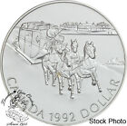 Canada 1992 $1 Kingston to York Stagecoach BU Silver Dollar - in Capsule Only