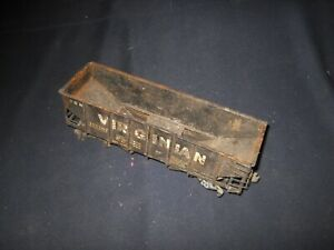 Early O Scale Virginian 2 Bay Metal Hopper