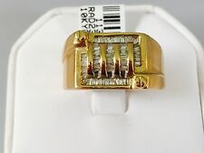 Solid 10K  Yellow Gold Diamond Men's Ring 0.5 CT 10.1gr