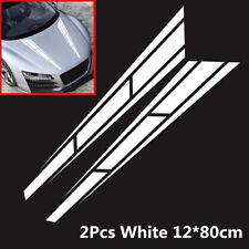 2Pcs Waterproof Car Hood Stripe Stickers PVC Vinyl Graphics Decals Accessories