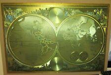 Huge Orbis Terrarum Typus De Integroin Plurimis Gold Foil Map Of The World
