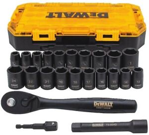 "DEWALT DWMT74739 23 Piece 1/2"" Drive Combination Impact Socket Set"