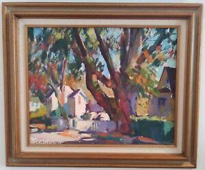 Charles Movalli Upper Main St Rockport Framed Signed Painting MA Artist Gruppe