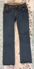 Womens Juniors Apple Bottom Jeans Size 7/8 Blue Distressed