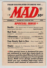 MAD # 12 1954 EC COMIC Archie BERNIE KRIGSTEIN Wally Wood JACK DAVIS VG- 3.5