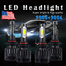 4X 9005 9006 54000LM CREE LED Headlight High Low Beam Bulb 540W Kit Super White