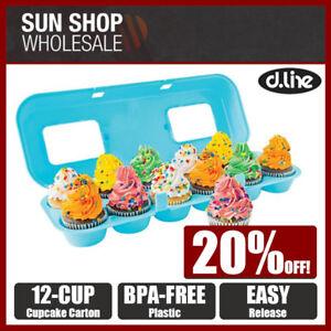 100% Genuine! D.LINE Bakelicious 12 Cup Cupcake Carton Storage Carrier Holder!