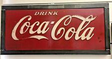Vintage Coca-Cola Cooler/Vending Machine Sign Welded Metal Frame