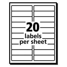 "100 Sheets - 2000 Blank Return Address Labels - 4"" x 1"" - FREE Shipping!"