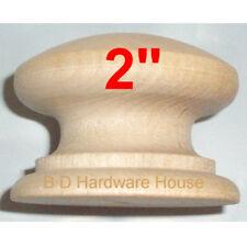 "2"" - British Knob Wood Cabinet Pulls / Drawer Knobs with screw"