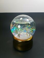 """6"""" Light Up Snow Globe Water Dome Crystal Trees Angels Lights Red Green"""