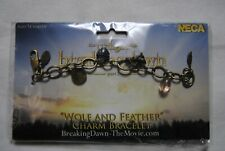 THE TWILIGHT SAGA BREAKING DAWN PART 2 WOLF & FEATHER CHARM BRACELET NEW RARE