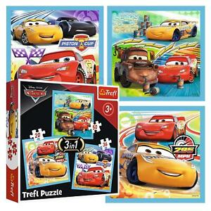 Trefl 3 in 1 Disney Pixar Cars Jigsaw Puzzle 20-36-50 Pieces 3+ Game Gift