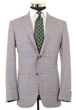 Caruso ITALY Gray Glen Plaid Check Super 130s Wool Sport Coat Blazer 48 38 R