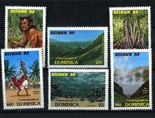 Dominica 1988 SG#1119-1124 Reunion Tourism Programme MNH Set #D38132