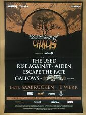THE USED – RISE AGAINST 2007 SAARBRÜCKEN  - orig.Concert Poster - Konzert Plakat