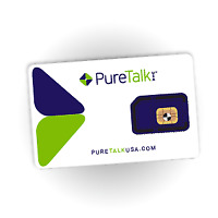 Pure Talk Universal 3-in-1 SIM - No Contract Wireless - Prepaid - GSM Compatible