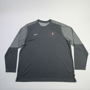 Stanford Cardinal Nike Dri-Fit Long Sleeve Shirt Men's Gray Used