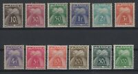 i129293/ FRANCE / POSTAGE DUE / Y&T # 78 / 89 MINT MNH COMPLETE – CV 164 $