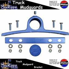 DARK ROYAL NAVY BLUE PLASTIC TRUCK MUDGUARD HANGER BRACKET SEMI TRAILER TRUCKS