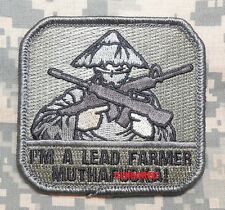 I'M A LEAD FARMER TACTICAL ARMY MILITARY ACU VELCRO® BRAND FASTENER PATCH