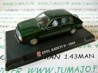 AP33N Voiture 1/43 IXO AUTO PLUS : KADETT D 1983 verte dark green
