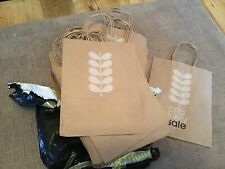 """Orla Kiely brown paper sale bags 11""""x 8.5"""" excluding handles New x 50"""