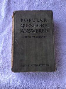 Vintage Popular Preguntas Respondió de George W. Stimpson Libro de Tapa Dura