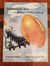 VINTAGE OCT 1956 JEFFERSON CITY JAYS vs COLUMBIA KEWOIES FOOTBALL PROGRAM