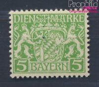 Baviera d17w examinado, papel de paz y engomado de paz nuevo 1916 Emblem(8357971