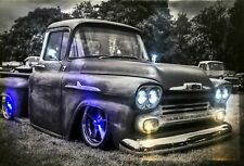 LED Bild Leuchtbild 65 cm x 45 cm Bilder Oldtimer US Cars Samarkand-Lights Auto