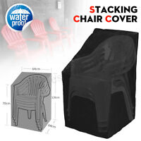 Waterproof Outdoor Stacking Chair Cover Garden Parkland Patio Sofa Furniture ❤