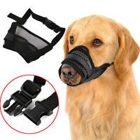 Pet Dog Adjustable Pet Dog Mask Anti Bark Bite Mesh Mouth Muzzle Grooming  Chew