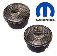 For Jeep Wrangler 07-18 JK Pair of Clear Park Turn Signal Lamps Light Mopar OEM