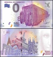 Zero - 0 Euro Europe, 2017 - 1, UNC, Train, Memorial De L Armistice in France