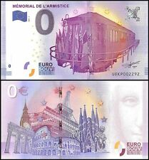 Zero - 0 Euro Europe, 2017 - 1, UNC, Train, Memorial De L Armistice in France