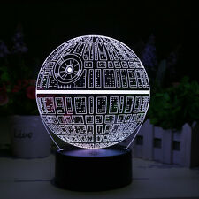 Lamp Death Star Wars 3D LED Holographic Lamp light 7 Colors Gift Xmas Kids NEW