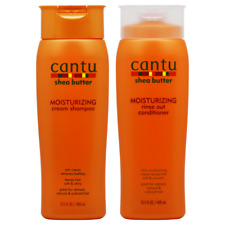 Cantu Shea Butter Moisturizing Shampoo + Conditioner 13.5oz (2 PACK SET)