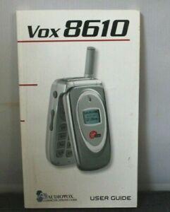 User Guide Manual Virgin Mobile Audiovox Vox CDM 8610 Cell Phone Book White New