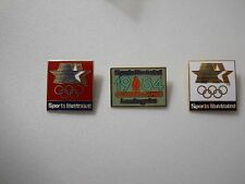 Vintage 1984 Summer Olympic Games Sports Illustrated Corporate logo 4 pin set